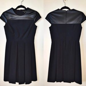 Cynthia Steffe | Black Dress With Pleather Top 2